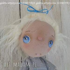 aniołek lalka dekoracje niebieskie - dekoracja tekstylna