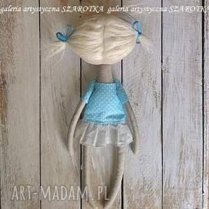 lalka aniołek dekoracje niebieskie - dekoracja tekstylna