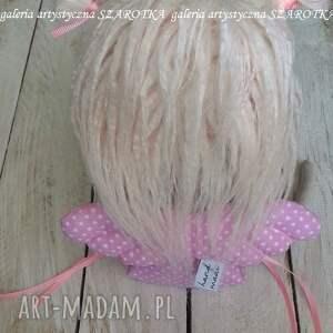 lalka aniołek dekoracje różowe - dekoracja tekstylna
