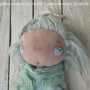 lalka aniołek dekoracje zielone - dekoracja tekstylna