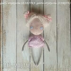 lalka aniołek różowe - dekoracja tekstylna