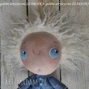 dekoracje: ANIOŁEK lalka - dekoracja tekstylna, seria cute angel, OOAK na prezent