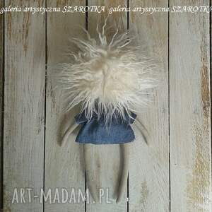 na urodziny aniołek lalka - dekoracja tekstylna