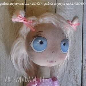 szare dekoracje lalka szmaciana aniołek - dekoracja tekstylna