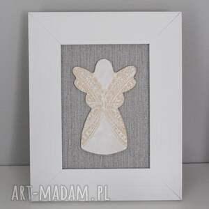 atrakcyjne dekoracje chrzest aniołek stróż anioł ceramiczny