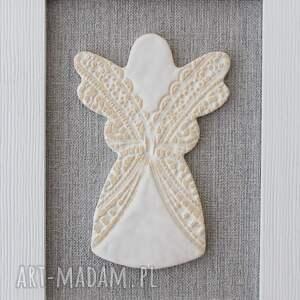 atrakcyjne dekoracje komunia aniołek stróż anioł ceramiczny