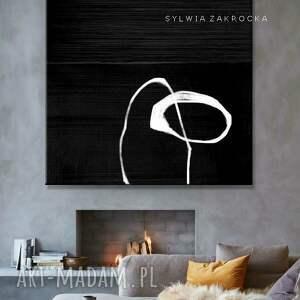 atrakcyjne dekoracje artystyczna czern obrazy do salonu