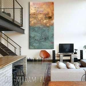trendy dekoracje obrazy-do-salonu bardzo duży obraz do salonu