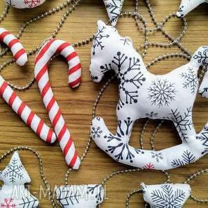 upominki świąteczne konik bombki szyte bawełniane handmade