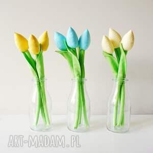 dekoracje bukiet bawełnianych tulipanów