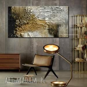 białe dekoracje obraz fakturowany burza piaskowa - abstrakcyjne