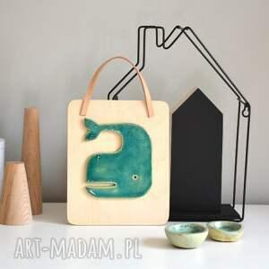 dekoracje ceramiczny wieloryb
