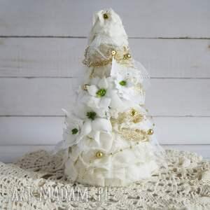pomysły na prezenty święta choinka biało-złota