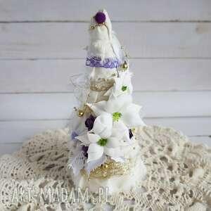 pomysł na prezent święta choinka z fioletowym akcentem