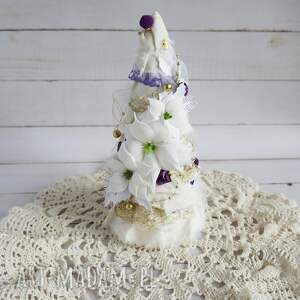 pomysł na prezent święta dekoracja choinka z fioletowym akcentem