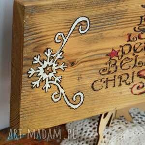 pomysł na prezenty święta boże narodzenie deska - joy, christmas - rustykalna