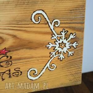 pomysł na prezenty święta białe deska - joy, christmas - rustykalna
