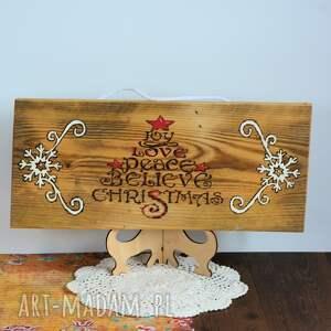 pomysł na prezenty święta rustykalna deska - joy, christmas