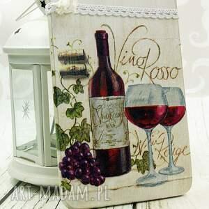 czerwone dekoracje wino deska ozdobna - domowa winnica