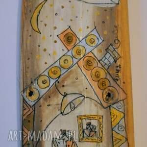 wyjątkowe dekoracje szczęście deska ręcznie malowana - dom