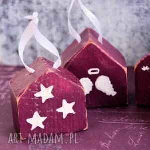 prezenty na święta malowane domki - bombki - zestaw