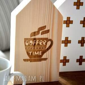 ręcznie zrobione dekoracje domek 3 domki czas na kawę
