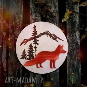 unikatowe dekoracje lis drewniana dekoracja ścienna