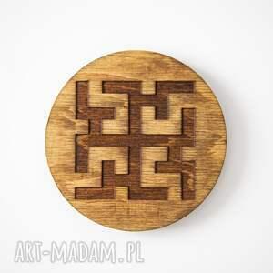 dekoracje podkładki drewniane podstawki z motywem