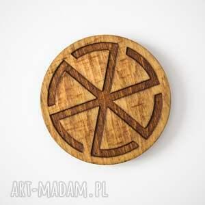 podkładki dekoracje drewniane podstawki z motywem
