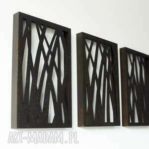 wyjątkowe dekoracje natura drewniany tryptyk