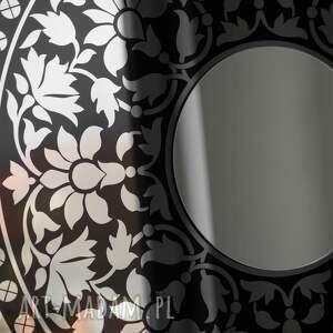 ornament dekoracje duże okrągłe lustro dekoracyjne do