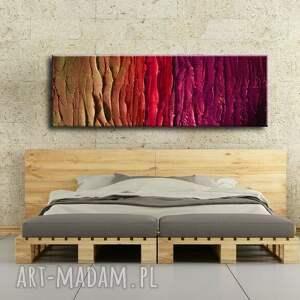 dekoracje fioletowe duży nowoczesny obraz