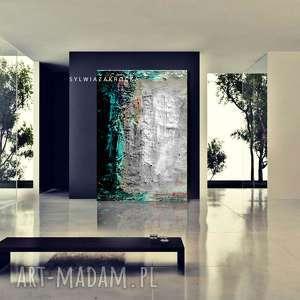 ciekawe dekoracje nowoczesne wnętrze duży nowoczesny obraz