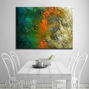 jesienne kolory dekoracje pomarańczowe duzy obraz do salonu