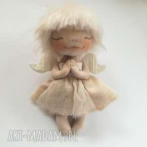 dekoracje: e piet ANIOŁEK - dekoracja ścienna - figurka tekstylna ręcznie szyta anioł