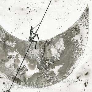 eleganckie dekoracje minimalizm grafika 30x40 cm wykonana ręcznie