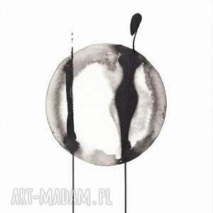 ART Krystyna Siwek dekoracje: grafika czarno biała, plakat A4, ręcznie malowane, minimalizm - obrazy na-ścianę