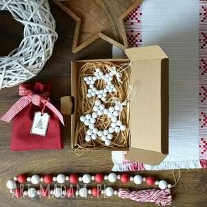 prezent święta śnieżynka gwiazda drewniana