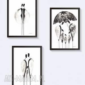 plakty-skandynawskie dekoracje czarne ilustracjaczarno-biała wykonana
