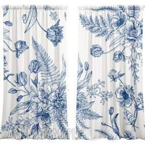 dekoracje komplet bawełnianych zasłon flower