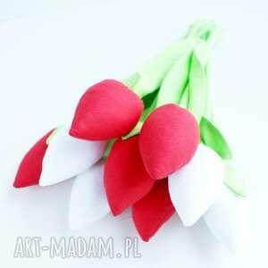 kwiaty dekoracje czerwone bawełniane dekoracja stołu