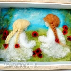 maki dekoracje czerwone łąka pełna maków. Obraz z kolekcji