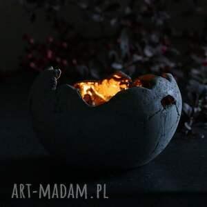 świecznik dekoracje lampion ceramiczny z antracytowej