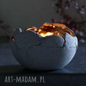 dekoracje lampion ceramiczny z antracytowej