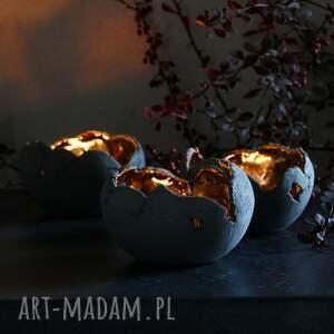 niebanalne dekoracje świecznik lampion ceramiczny z antracytowej