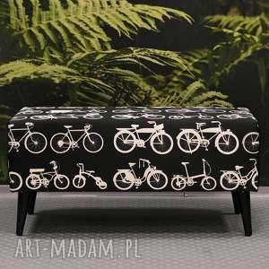 oryginalne dekoracje ławka white bikes