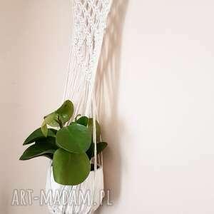 dekoracje kwietnik makrama -