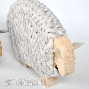 dekoracje drewno merino - australijska owieczka