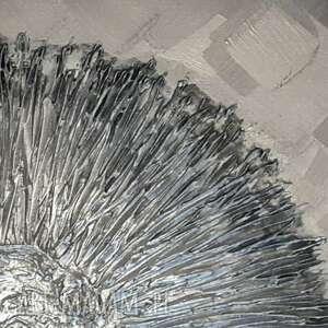 szare dekoracje obraz na plotnie metaliczna otchłań