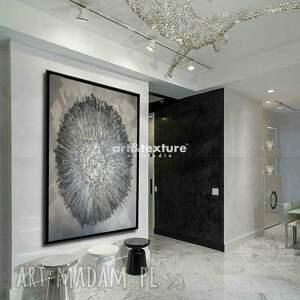 frapujące dekoracje srebrna dekoracja metaliczna otchłań - obraz